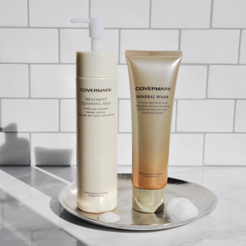 COVERMARK 春日潔面指南 |礦物膠原潔面霜 | 全效修護卸妝乳 | 清潔毛孔 水油平衡