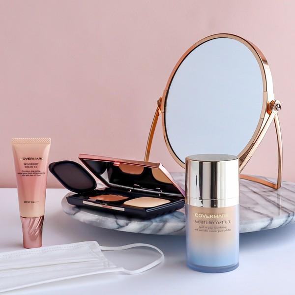 COVERMARK | 夏日口罩下,不脫妝! | 液態蜜粉,以水定妝 | 高效透亮CC霜 | 鑽光水凝定妝啫喱